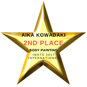 Aika Kowadaki 2nd Place Body Painting IMATS 2017