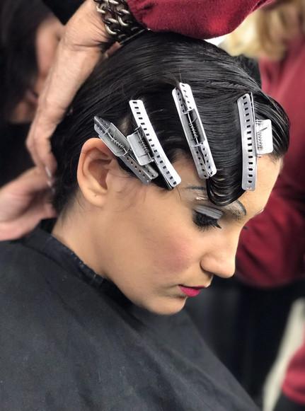 The Makeup Technicians Student Work - WATER WAVING