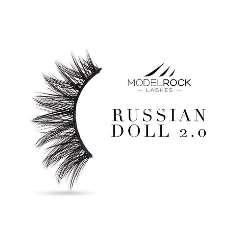 "Model Rock Lashes - ""Russian Doll 2.0"" double layered lashes"
