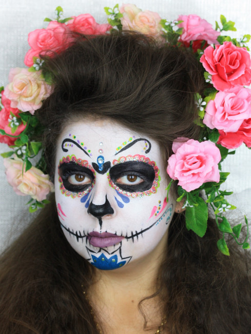 The Makeup Technicians Student Work - SUGAR SKULLS