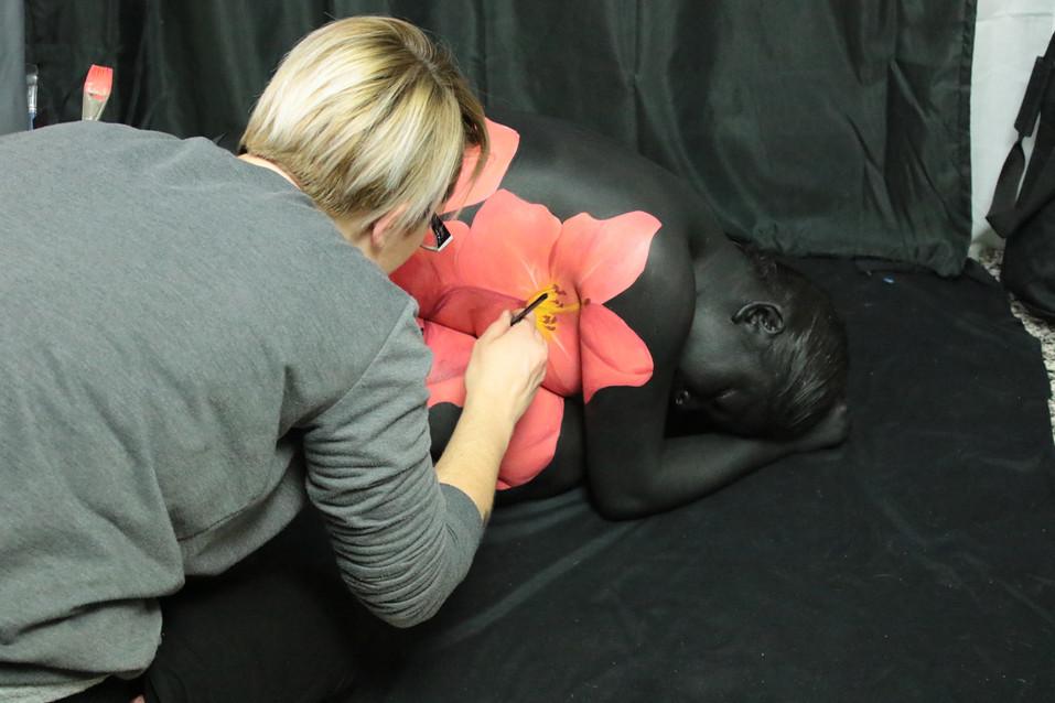 The Makeup Technicians Student Work - BODY PAINT WORK