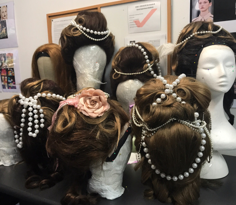The Makeup Technicians Student Work - WIG STYLING