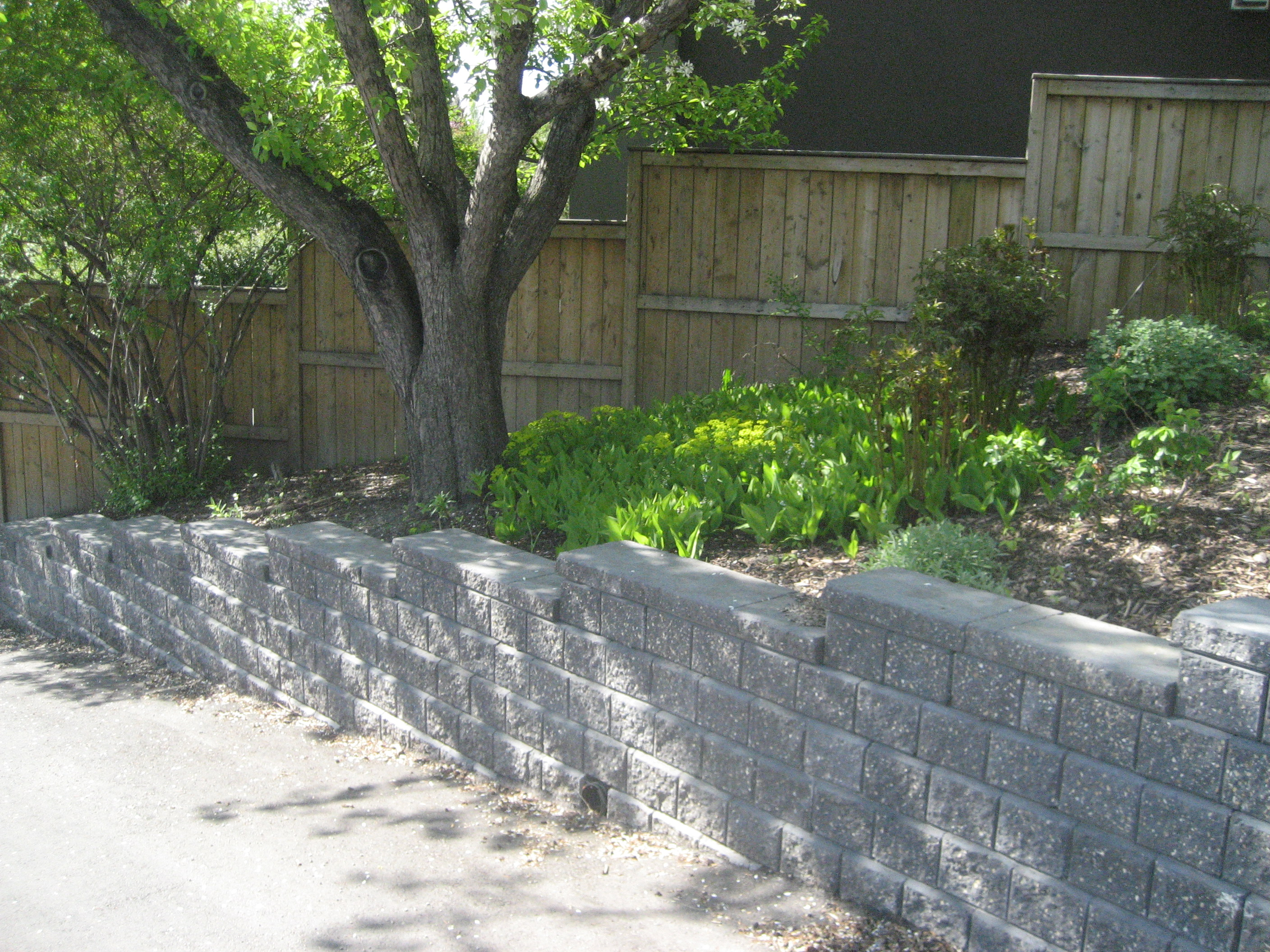 Brick Retaining wall Calgary