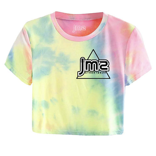 JMS WOMEN'S TIE DYE CROP TOP TEE