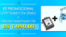 Kit Promocional CPAP System One (Basic) + Mascara Inspira - (21) 3594-6160