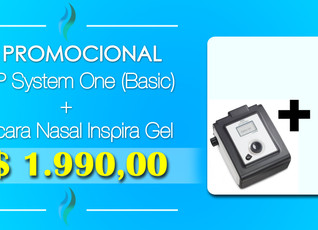 Kit CPAP System One (Basic) + Mascara Inspira - (21) 3594-6160