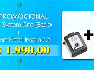 Kit CPAP System One (Basic) + Mascara Inspira - (21) 3594-6160