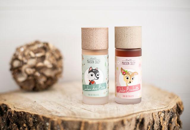 Deux flacons de parfum pour enfant