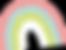 Dessin d'arc en ciel aux couleurs pastel