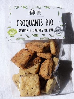 Croquant bio Lavande & Graines de lin