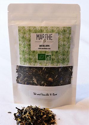 Thé vert bio Vanille & Rose