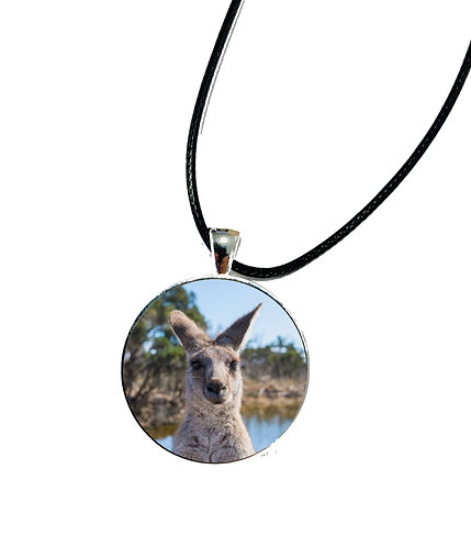 Save the Kangaroos Necklace or Keychain