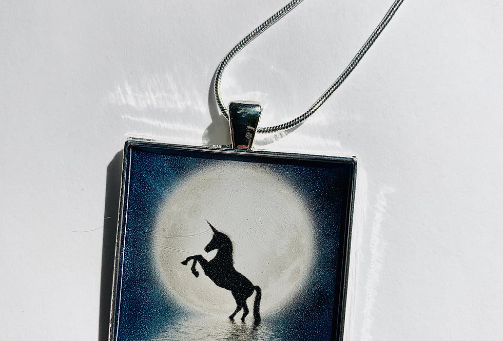 Moonlight Unicorn Necklace