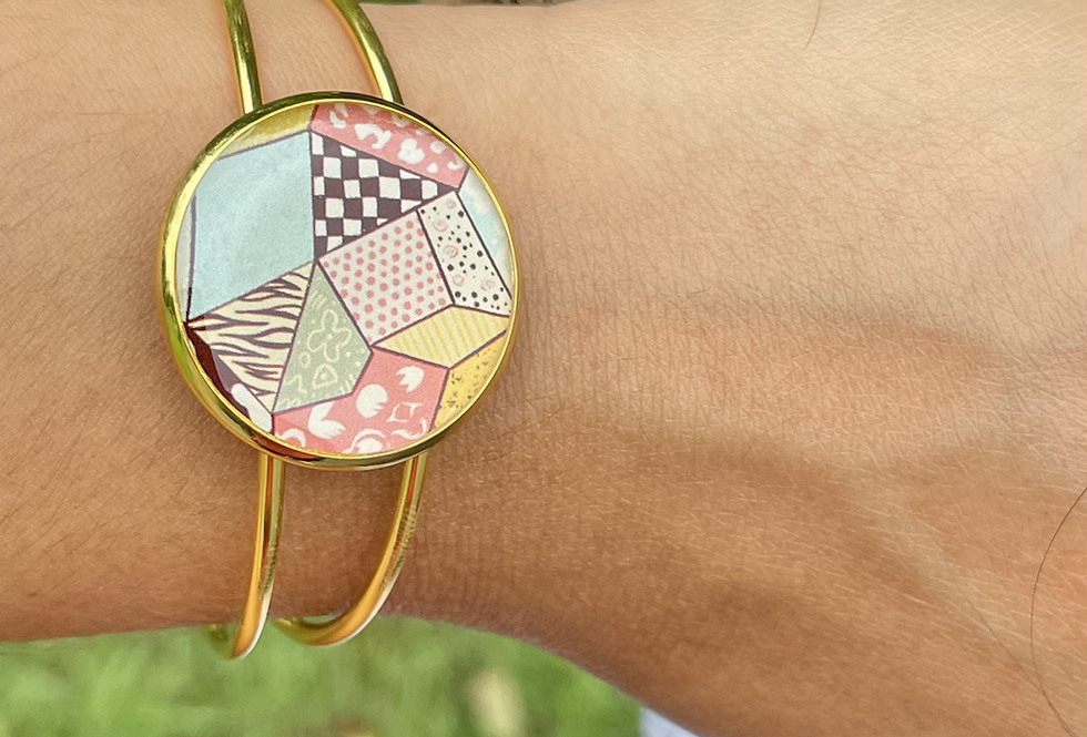 Quilted Cuff Bangle