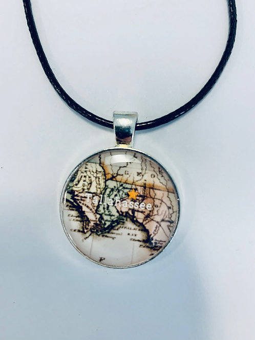Tallahassee Map Necklace