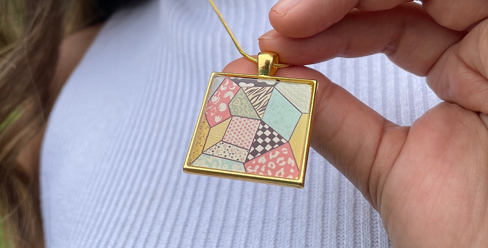 Quilted Necklace