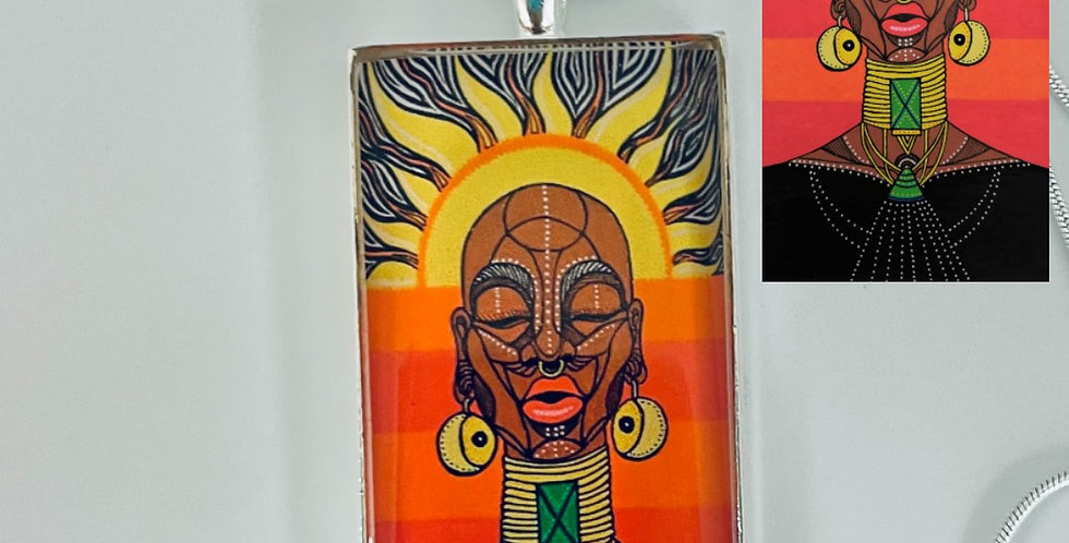 African Sun Goddess Necklace by Nadeen Southgate