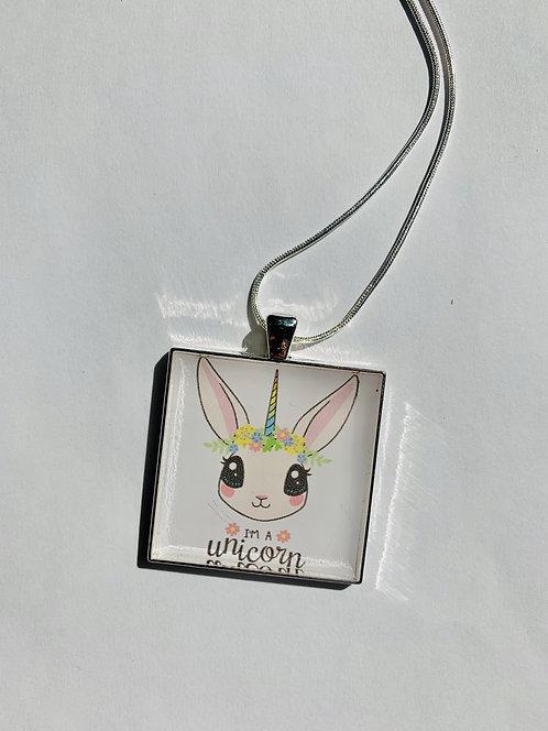 Unicorn Bunny Necklace