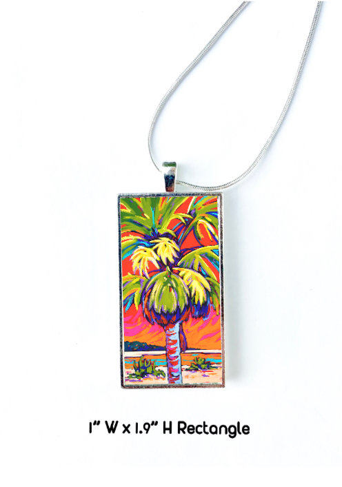 Clearwater Glow in Red Necklace: Sally C. Evans
