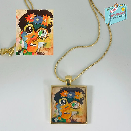 Cubist Frida Necklace by Jerry Moffitt