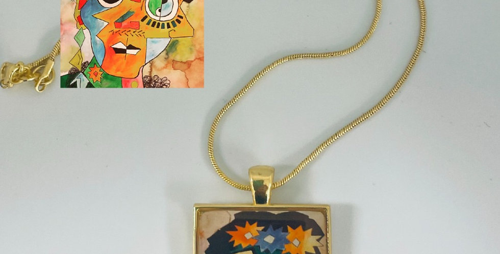 Cubist Frida Necklace by Jerry Moffitt
