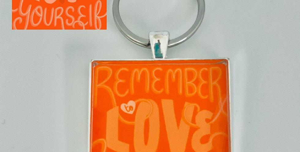 Love Yourself Keychain by Bianca Jozwiak
