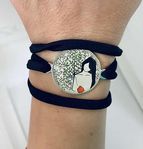 More Than a Pomegranate Wrap Bracelet by Sepideh Zakeri