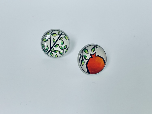 More Than a Pomegranate Studs by Sepideh Zakeri
