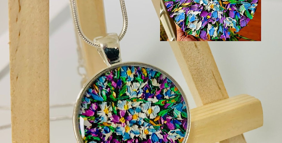 Floral Jewels Necklace by Chinthika Brandstetter