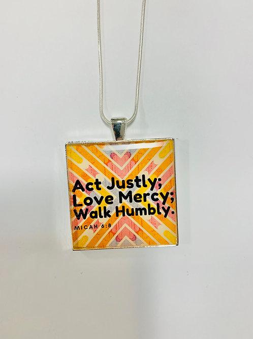 The Scripture Micah 6:8 Necklace