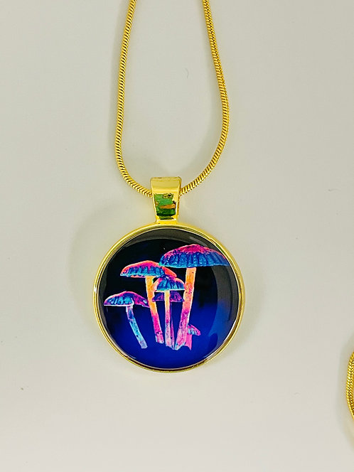 Mushroom Glow Necklace by Signe Knutson