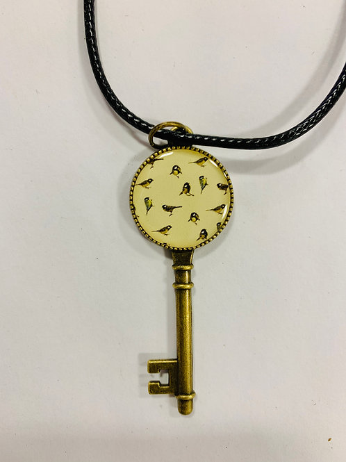 Birds Key Necklace