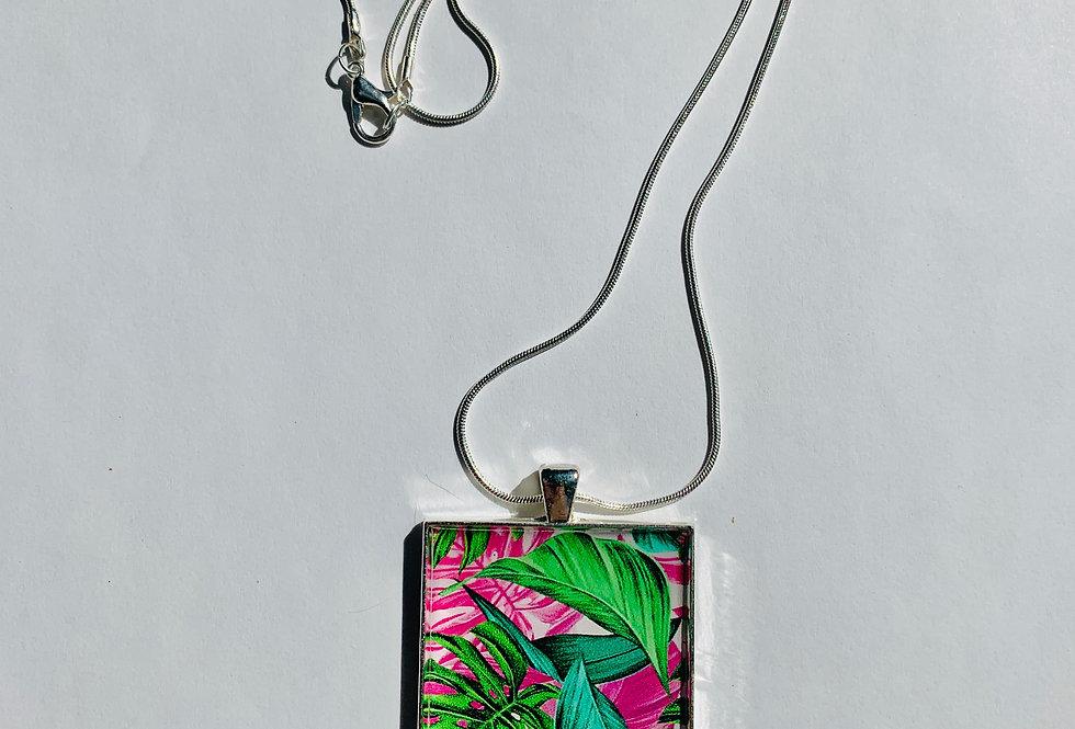 Florida Palm Leaf Necklace