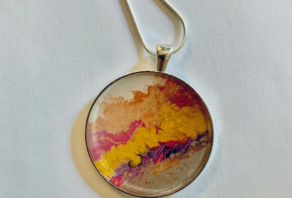 It comes in waves Necklace by QZ Design Gallery
