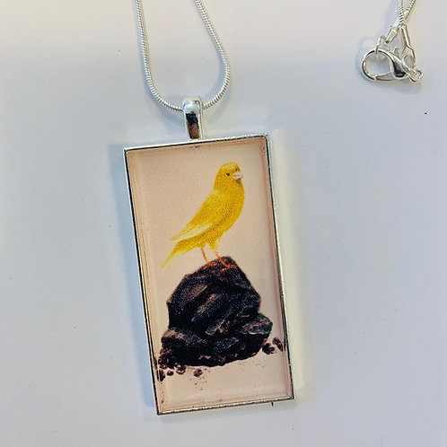"""A Canary in a Coal Mine"" Necklace by Lost Bird Art"