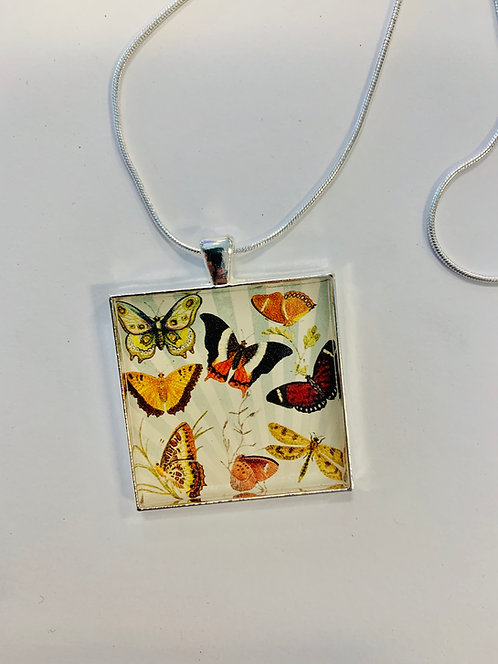 "Butterfly Necklace: 1.5"" Medallion"