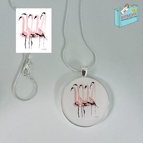 Flamingos Necklace by Lauren DePalo Design