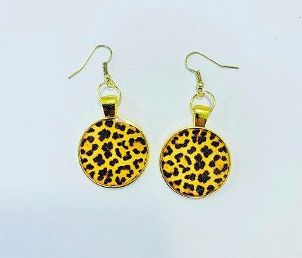 Leopard Print Dangles