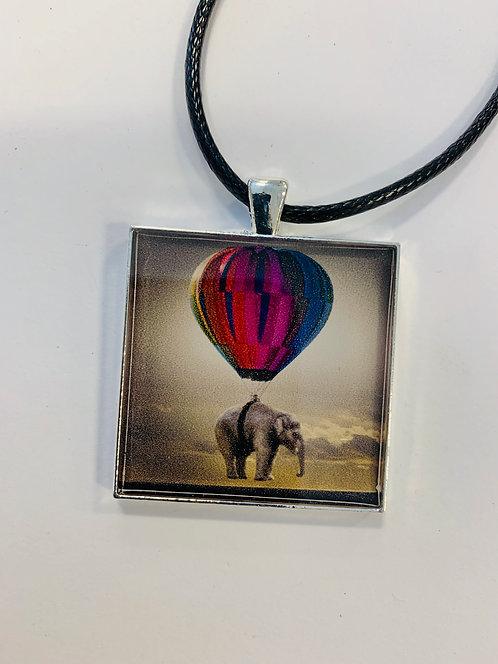 """Whimsical Elephant Necklace: 1.5"""" Medallion"""