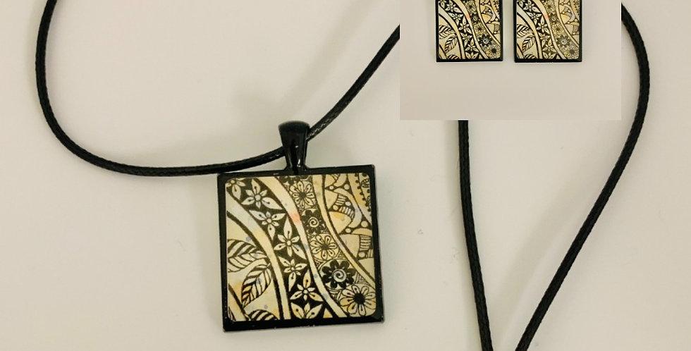 Tasse Necklace & Earring Set by Jan Jenkins
