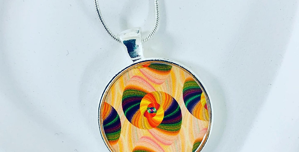 Psychedelic Medallion Necklace