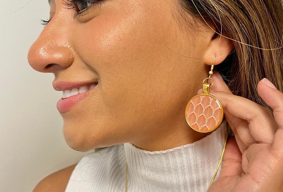 Orange Shell Dangles