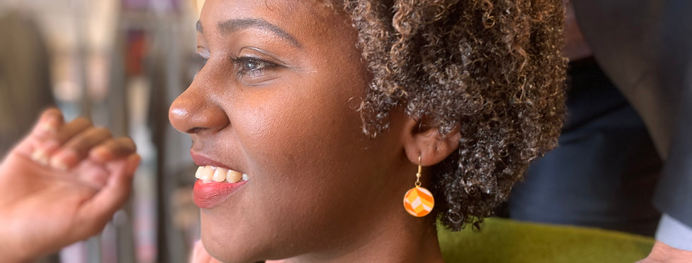 Retro Chevron Earrings