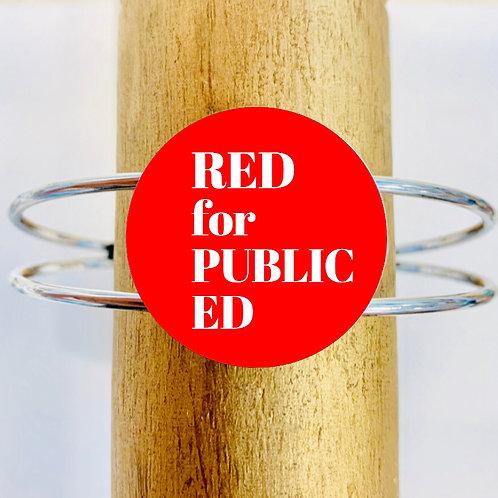 Red for Public Ed Cuff Bangle