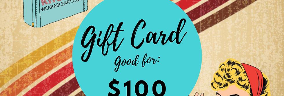 Gift Card: $100