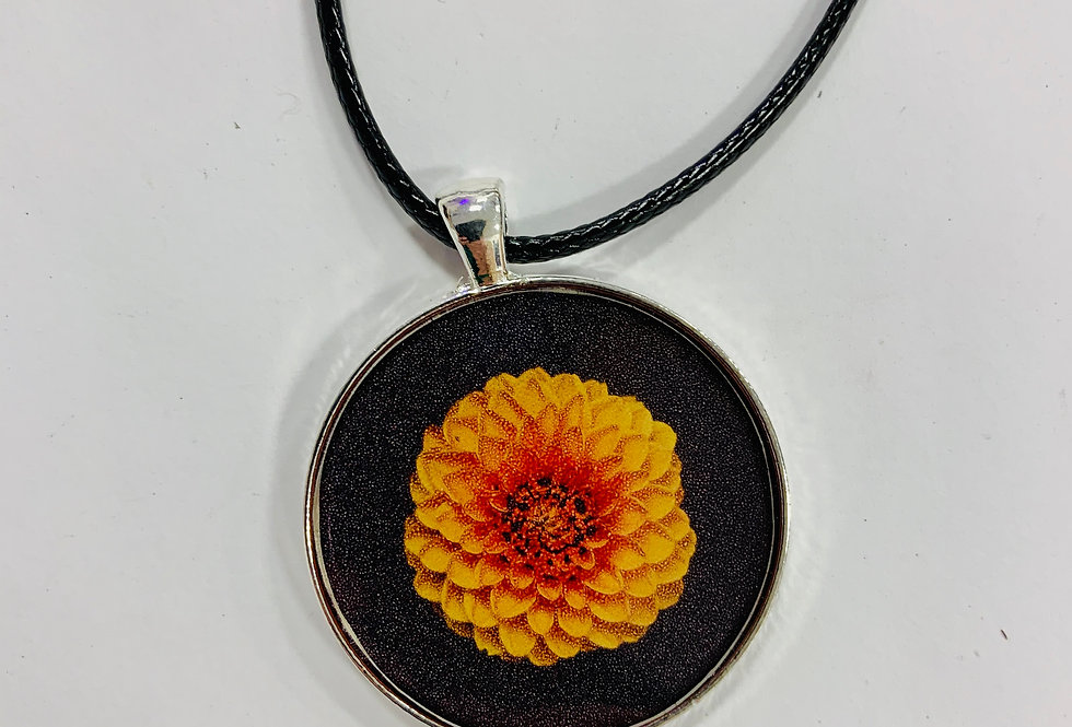"Orange Blossom Necklace: 1.5"" Medallion"