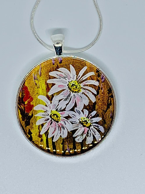 Three Daisies Necklace by Jim Russell