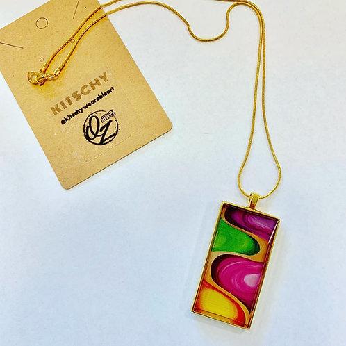 Fire & Vertigo Necklace by QZ Design Gallery