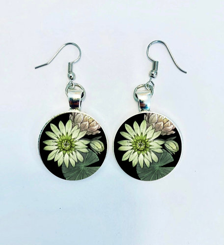 Pond Series: Lily Pad Earrings
