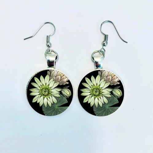 Pond Series: Lily Pad Earrings
